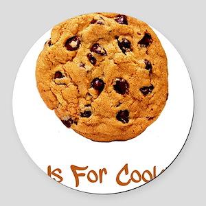 Cookie Brown Round Car Magnet
