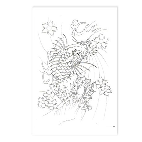 Koi Postcards (Package of 8)