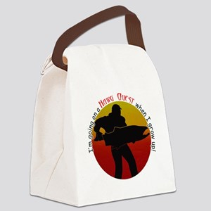 HQ logo large round grow up Canvas Lunch Bag