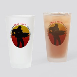 HQ logo large round grow up Drinking Glass