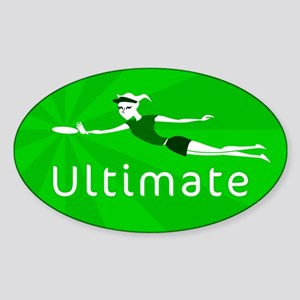 Ultimate Frisbee Oval Sticker