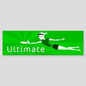 Ultimate Frisbee Bumper Sticker