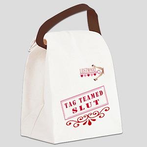 TAGTEAMED--SLUT Canvas Lunch Bag
