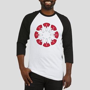 Schwinn Flower - Red Baseball Jersey