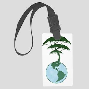 earth-tree2-T Large Luggage Tag