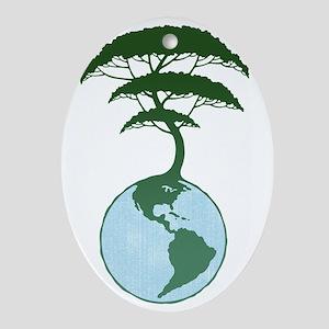 earth-tree2-T Oval Ornament