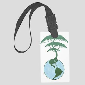earth-tree2-DKT Large Luggage Tag