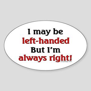 Left-Handed Sticker (Oval)