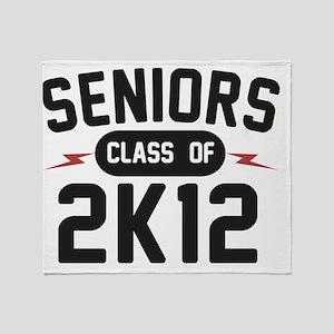 seniors-2K12-blk Throw Blanket