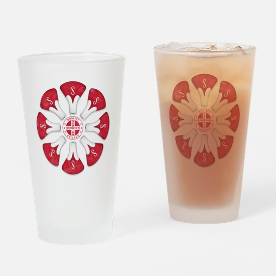 Schwinn Flower - Red 2 Drinking Glass