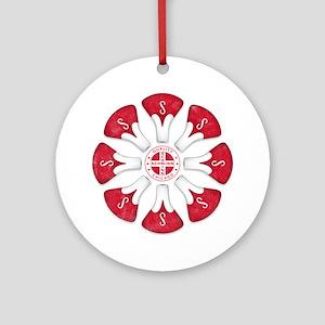 Schwinn Flower - Red 2 Round Ornament
