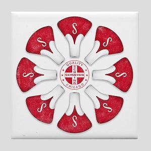 Schwinn Flower - Red 2 Tile Coaster