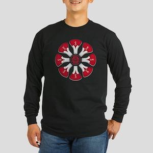 Schwinn Flower - Red 2 Long Sleeve Dark T-Shirt