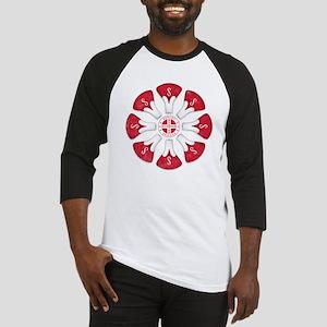 Schwinn Flower - Red 2 Baseball Jersey