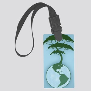 earth-tree2-BUT Large Luggage Tag