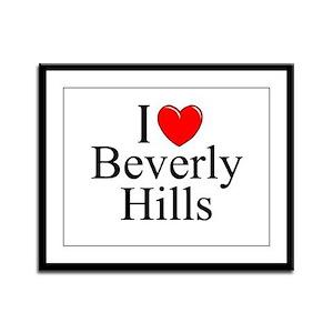 """""""I Love Beverly Hills"""" Framed Panel Print"""
