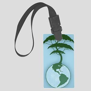 earth-tree2-OV Large Luggage Tag