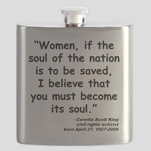 Coretta Soul Quote Flask