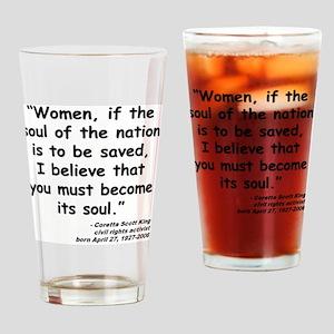 Coretta Soul Quote Drinking Glass