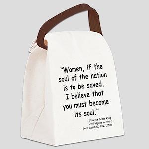 Coretta Soul Quote Canvas Lunch Bag