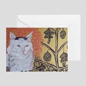 KlimtCat 4x6 Greeting Card