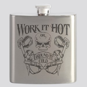 work it hot Lineman logo 1 Flask