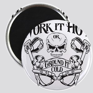 work it hot Lineman logo 1 Magnet