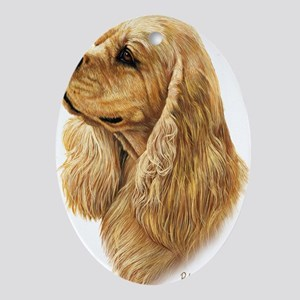 American Cocker Spaniel 2 Oval Ornament