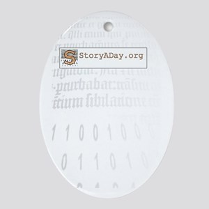 StoryADay Journal Cover 5x8 Oval Ornament