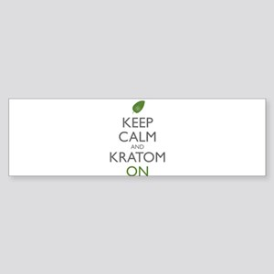 Keep Calm And Kratom On Bumper Sticker