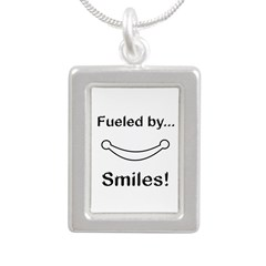 Fueled by Smiles Silver Portrait Necklace