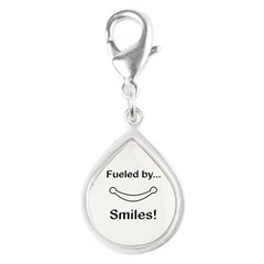Fueled by Smiles Silver Teardrop Charm