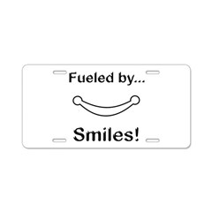Fueled by Smiles Aluminum License Plate