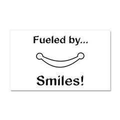 Fueled by Smiles Car Magnet 20 x 12