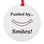 Fueled by Smiles Round Ornament