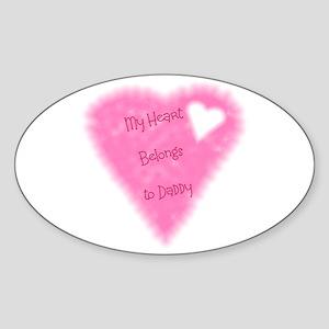 My Heart Belongs To Daddy Oval Sticker