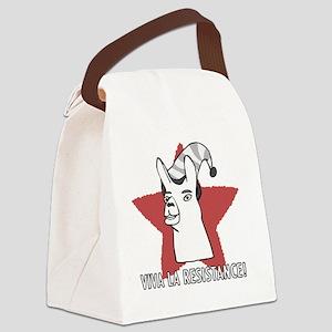 Llamas-D9-TravelMug Canvas Lunch Bag