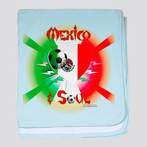 Mexican Soccer Soul baby blanket