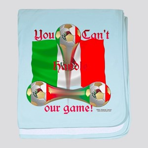 Mexico Soccer Game On Baby Blanket