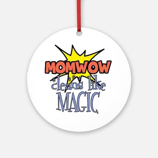 momwow-clean Round Ornament