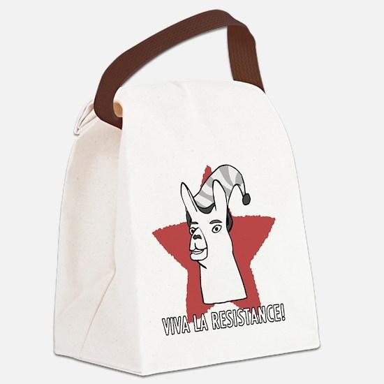 Llamas-D9-BlackApparel Canvas Lunch Bag