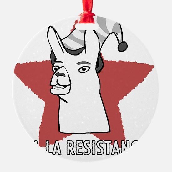 Llamas-D9-BlackApparel Ornament
