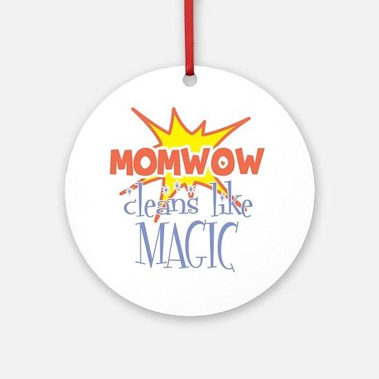 momwow-clean-white Round Ornament