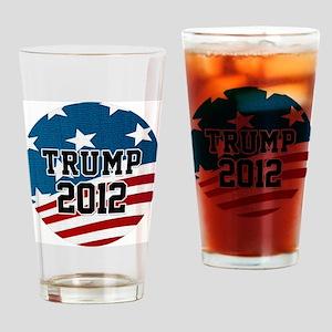 Trump 2012 Button Drinking Glass