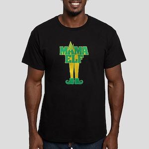 Mama Elf Men's Fitted T-Shirt (dark)