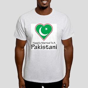 Happily Married Pakistani Ash Grey T-Shirt