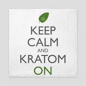 Keep Calm And Kratom On Queen Duvet