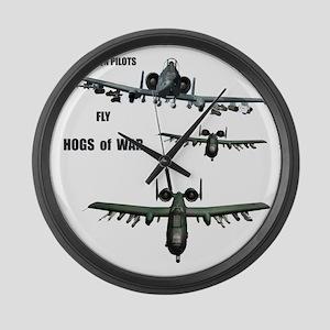 TeeShirt HOGS O WAR 01 copy Large Wall Clock