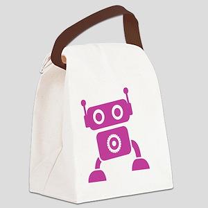 robots19 Canvas Lunch Bag