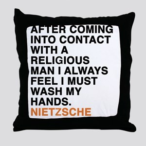 NIETZSCHE_24 Throw Pillow